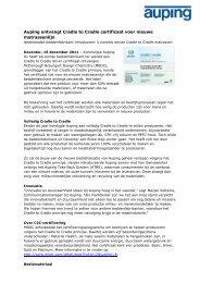 Auping ontvangt Cradle to Cradle certificaat voor ... - PersPagina