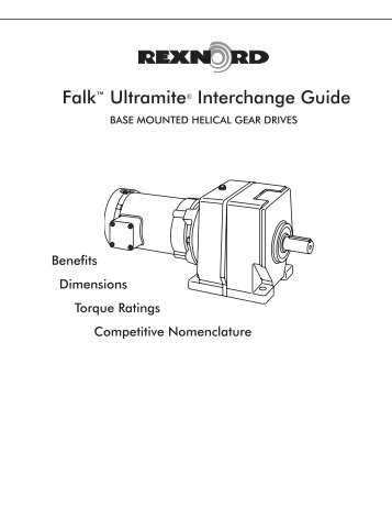 Falk⠢ Ultramite® UW Right-Angle Helical Worm Gear Drive