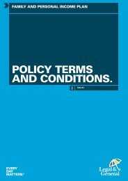 FPIP Policy Terms and Conditions (W13619) - Legal & General