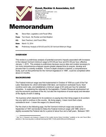 Memo Minimum Wage 031314