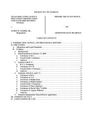 DOCKET NO - State Office of Administrative Hearings