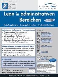 Seminar: Lean in administrativen Bereichen - Management Circle AG