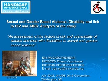 Sexual and Gender Based Violence - Hiseminars.org