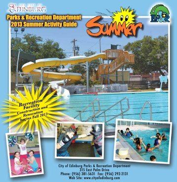 2013 Summer Activity Guide - City of Edinburg