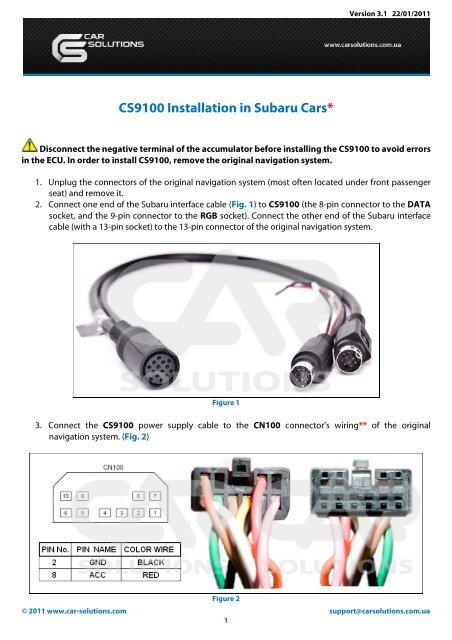 Download manual for CS9100 navigation box     - GSM Server com