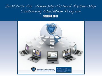 Institute for University-School Partnership Continuing Education ...