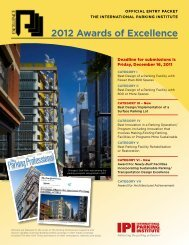 Awards of Excellence Entry Packet - International Parking Institute