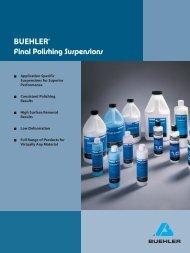 Final Polishing Suspensions - BUEHLER