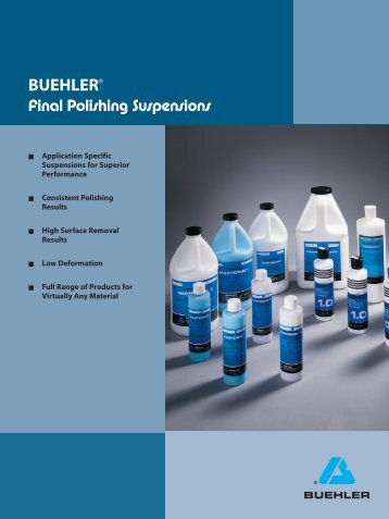 Final Polishing Suspensions - BUEHLER