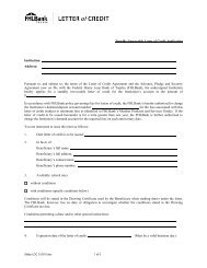 Standby Irrevocable Letter of Credit Application ... - FHLBank Topeka