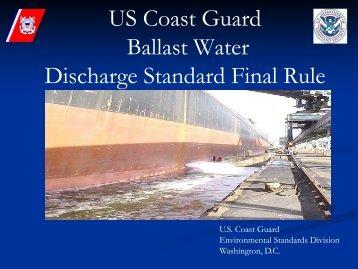 US Coast Guard Ballast Water Discharge Standard Final Rule