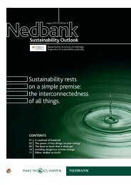 Sustainability rests on a simple premise - Nedbank Group Limited