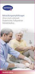 Behandlungsempfehlungen Ulcus cruris venosum Diabetisches ...