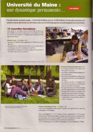 lO nouvelles formations - Faculté des Sciences et Techniques ...