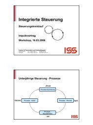 Integrierte Steuerung - ism