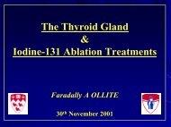 The Thyroid Gland & Iodine-131 Ablation Treatments