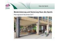 Präsenation:Modernisierung Haus des Sports - Hamburger ...