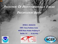 Prediction of Frontogenetically Forced Precipitation Bands