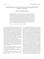 Relationships Between Musical Structure and Psychophysiological ...
