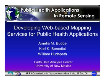 Developing Web-based Mapping Services for Public Health ...