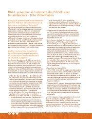 prévention et traitement des IST/VIH chez les adolescents - IAWG