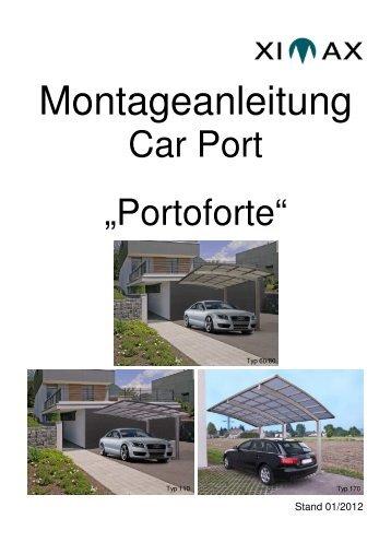Montageanleitung carport linea ximax for Montageanleitung carport