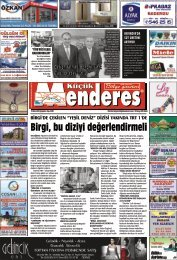 15 Ekim tarihli Küçükmenderes Gazetesi