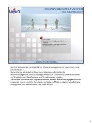 Wissensmanagement mit SharePoint - eine ... - Layer 2 GmbH