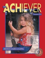 Summer 2003 - Arkansas Children's Hospital