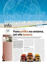 Puno prilikana cestama, još više izazova - Europska poduzetnička ...