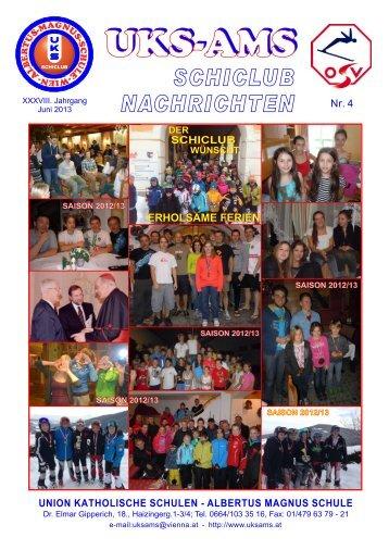 Schiclub-Nachrichten Juni 2013
