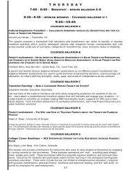 DENVER PROGRAM July 20 2012 - Division on Career ...