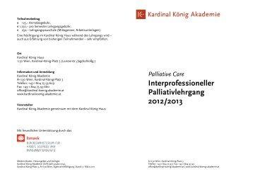 Palliative Lehrgang 2012-13 - Kardinal König Akademie