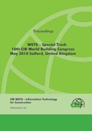 W078 - Special Track 18th CIB World Building Congress - Test Input