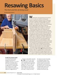 50-Resawing Basics-3.indd - Woodcraft Magazine