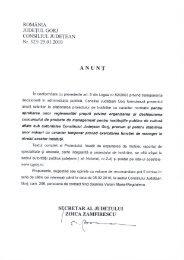 caiet de obiective - Consiliul Judeţean Gorj