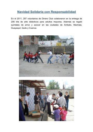 Navidad Solidaria con Responsabilidad - Diners Club del Ecuador