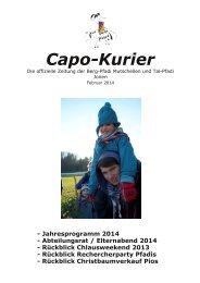 Capo Kurier 1/14 (PDF, 4.86 MB) - Pfadi Mutschellen