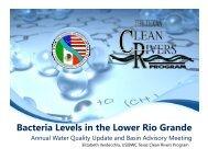 Bacteria Levels in the Lower Rio Grande