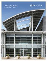 Zhone Technologies Annual Report 2004