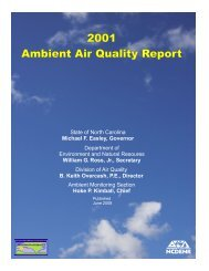 2001 Ambient Air Quality Report - Division of Air Quality