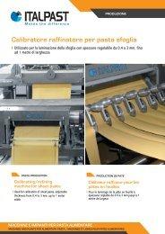 Calibratore raffinatore per pasta sfoglia - Italpast