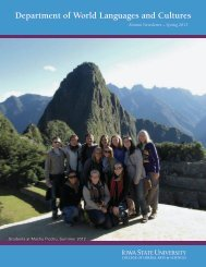 Spring 2013 - Department of World Languages and Cultures - Iowa ...