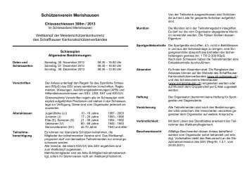 Schiessplan - Sh-schiessen.ch