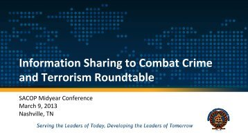 Information Sharing to Combat Crime and Terrorism Roundtable