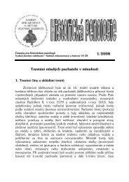 1/2008 Trestání mladých pachatelů v minulosti - Vězeňská služba ČR