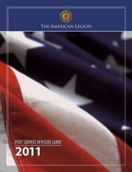 POST SERVICE OFFICERS GUIDE - The American Legion of Iowa