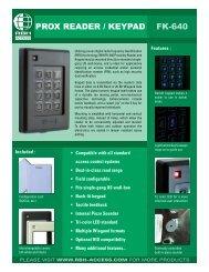 FK-640 PROX READER / KEYPAD - TristateTelecom