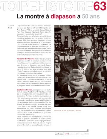 La montre à diapason a 50 ans - Watch Around