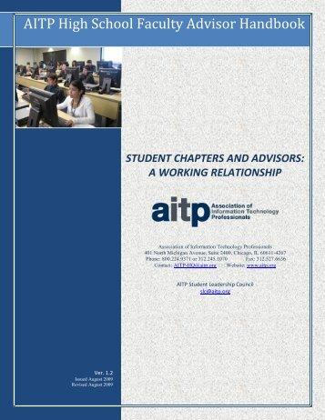 AITP High School Faculty Advisor Handbook - Texas State AITP